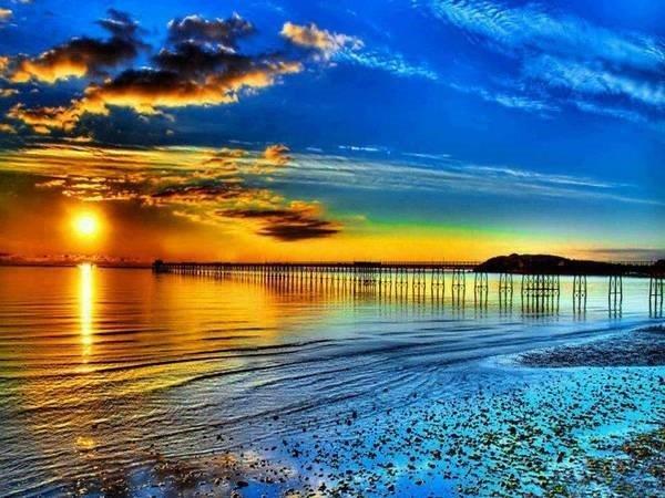 Beach Sun Set